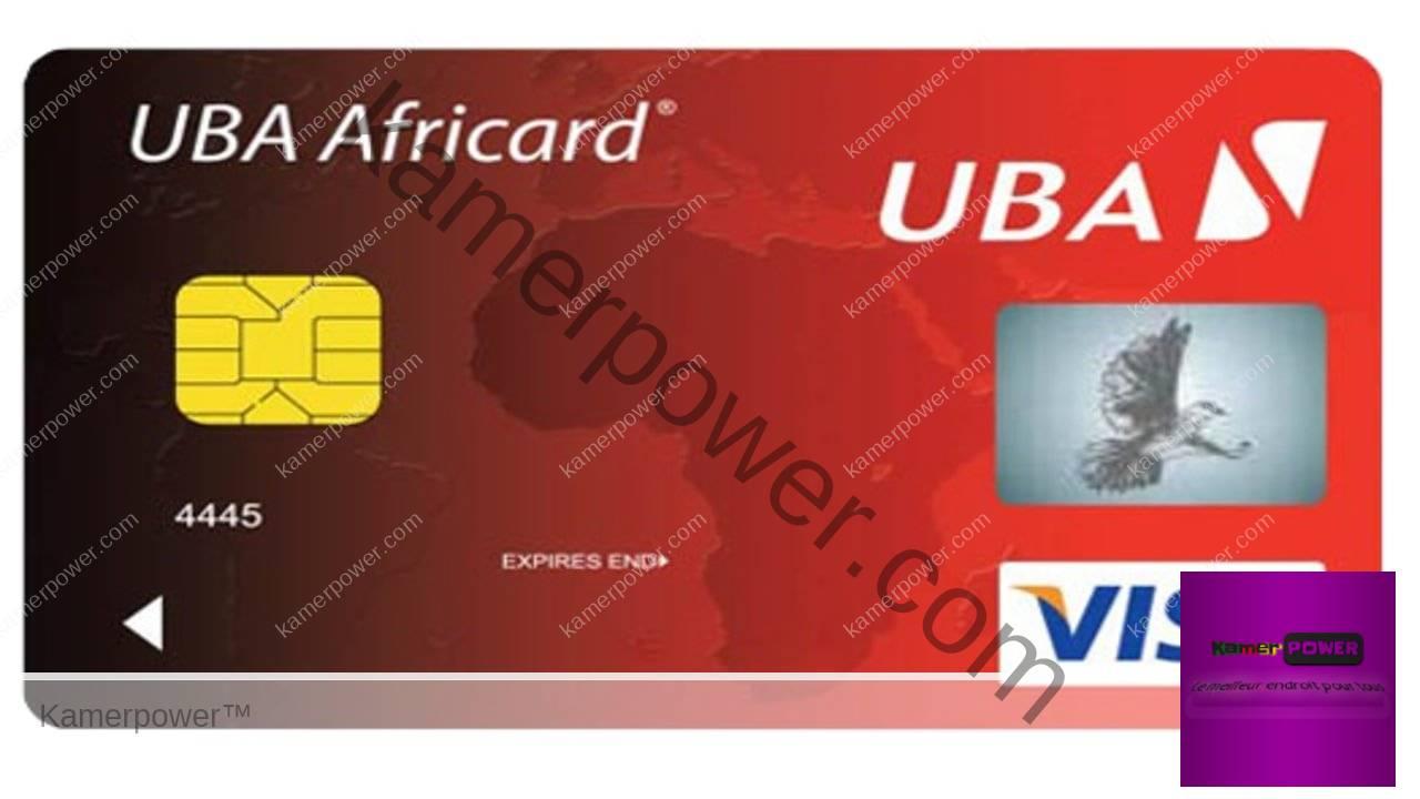 Carte VISA prépayée UBA Cameroun carte visa sans compte bancaire au cameroun
