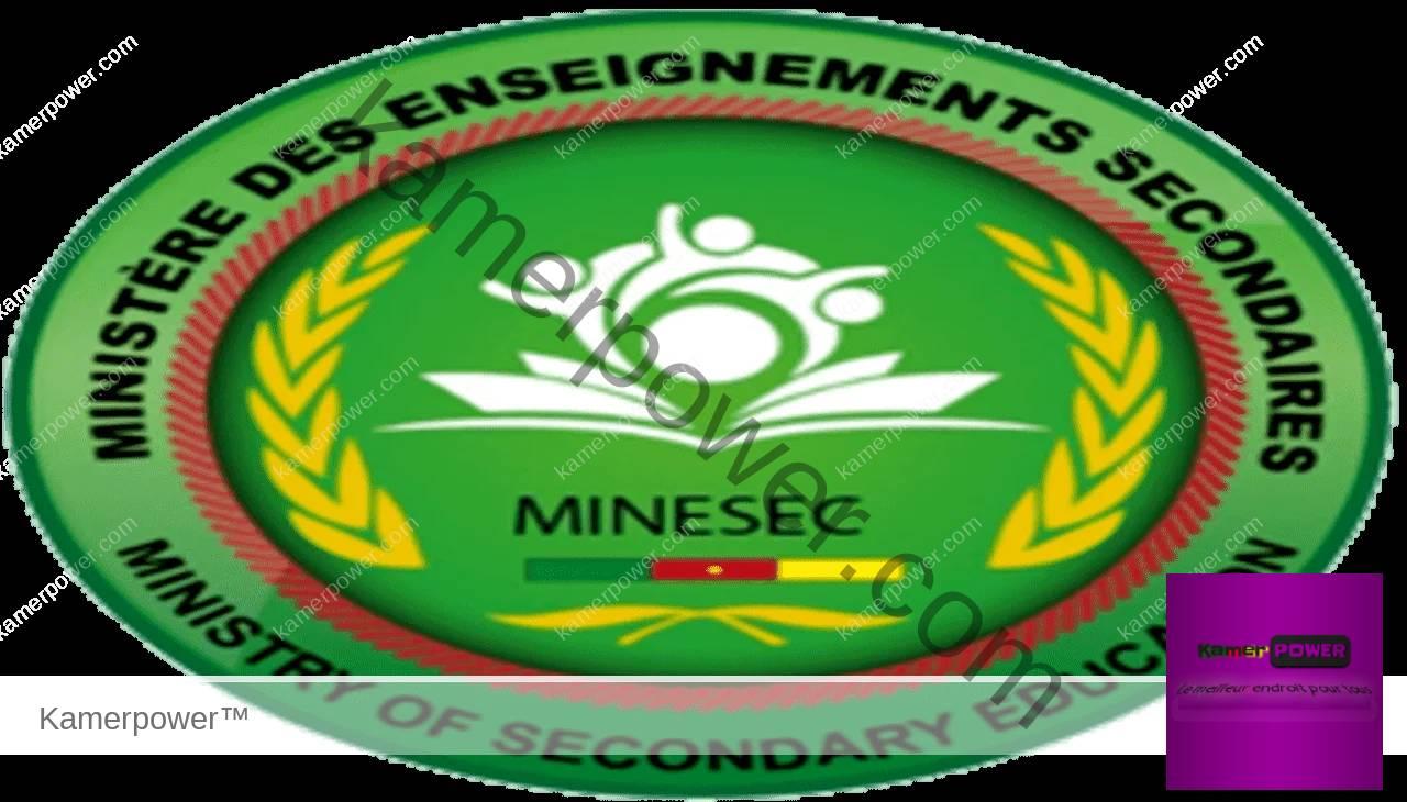 Minesec Cameroun www.minesec.cm 2021-2022 2023