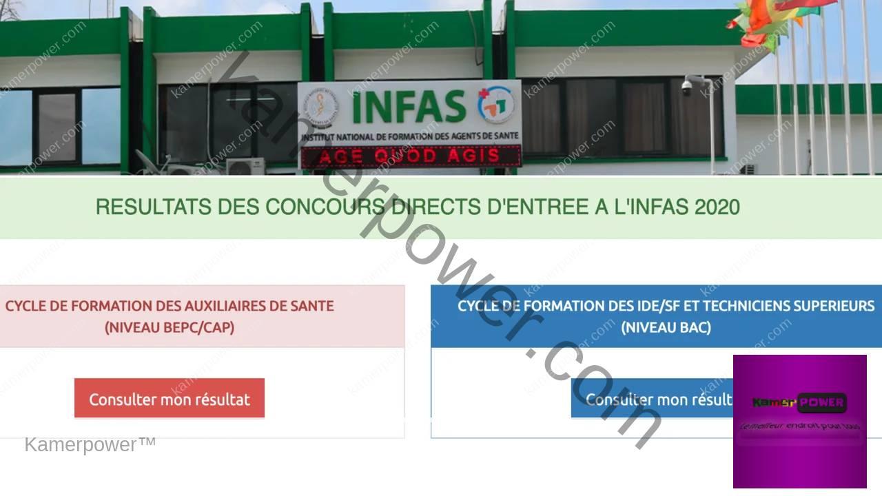 INFAS 2021-2022 Voici où consulter les résultats des concours directs INFAS ci